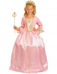 Disfraz de princesa rosa de lujo niña