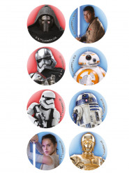 16 Mini discos de azúcar Star Wars™ 3,4 cm