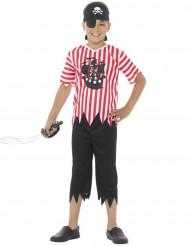 Disfraz de pirata a rayas niño