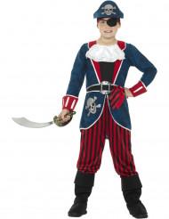 Disfraz capitán pirata azul y rojo niño
