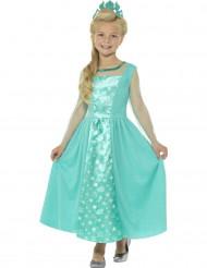 Disfraz princesa de hielo azul niña