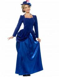 Disfraz de princesa victoriana azul para mujer