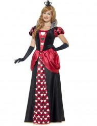 Disfraz de reina de corazones largo mujer