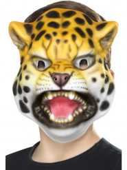 Careta cabeza de leopardo niño