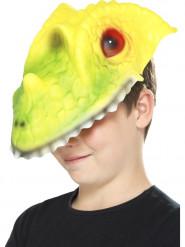 Máscara cabeza de cocodrilo niño