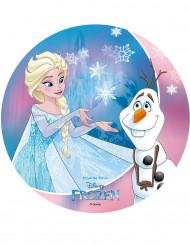 Disco oblea Frozen™ 20 cm Elsa y Olaf