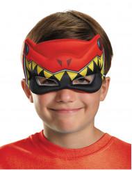 Semi máscara Power Rangers™ Dinocharge rojo niño