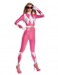 Disfraz de Power Rangers™ rosa sexy para mujer