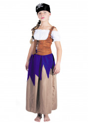 Disfraz de mujer pirata niña