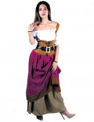 Disfraz de posadera medieval Mujer