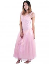 Disfraz de princesa romántica rosa mujer