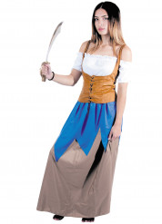 Disfraz de pirata del mar Mujer