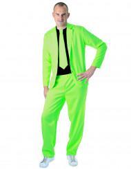 Traje fashion verde fluo adulto