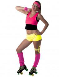 Mini short amarillo fluo para mujer.
