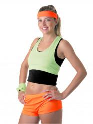 Mini short naranja fluo para mujer