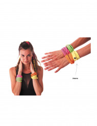 Pulsera retro amarillo fluorescente adulto