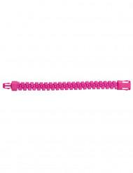 Pulsera cremallera rosa fosforito adulto