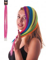 Mecha rosa de clip para el pelo