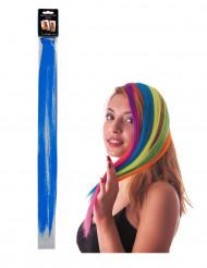 Mecha de clip azul para el pelo