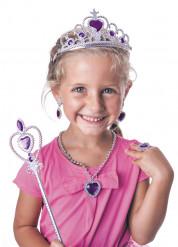 Kit accesorios princesa violeta niña