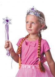 Accesorios princesa del hielo violeta niña