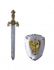 Espada y escudo fénix