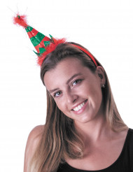 Diadema elfo adulto de Navidad