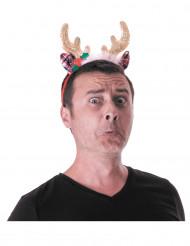 Diadema de reno adulto Navidad