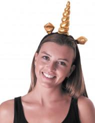 Diadema unicornio dorado adulto