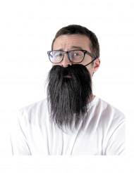 Barba hipster negra adulto
