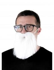 Barba hipster blanca adulto