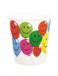 6 Vasos de cartón Smile