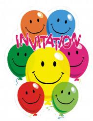 6 tarjetas de invitación Smile