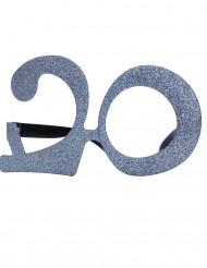 Gafas edad purpurina 20 años