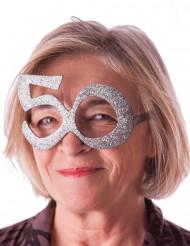 Gafas edad purpurina 50 años