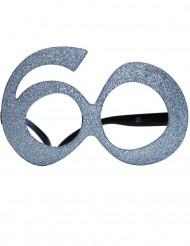 Gafas edad purpurina 60 años