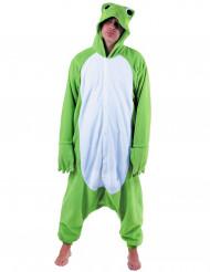 Disfraz traje rana verde adulto