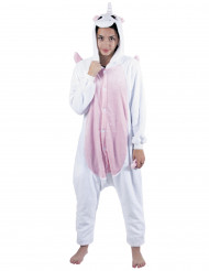 Disfraz mono unicornio rosa adulto