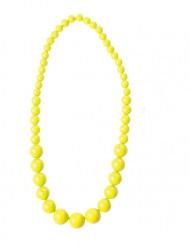 Collar perlas grandes amarillas adulto