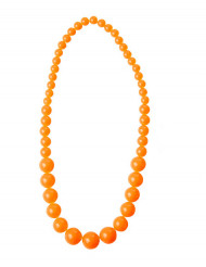 Collar perlas naranja grandes adulto