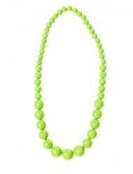 Collar perlas grandes verdes adulto