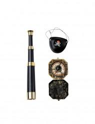 Kit accesorios capitán pirata adulto