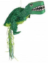 Piñata dinosaurio verde
