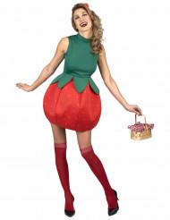 Disfraz vestido fresa Mujer
