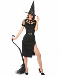 Disfraz de bruja sexy negro Halloween mujer