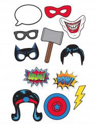Kit photocall 12 unidades superhéroes