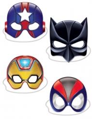 4 Máscaras de cartón de superhéroes