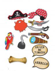 Accesorios photocall 12 piezas pirata