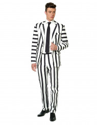 Traje Mr Striped negro y blanco Suitmeister™