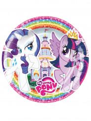 8 platos de postre de cartón My little Pony™